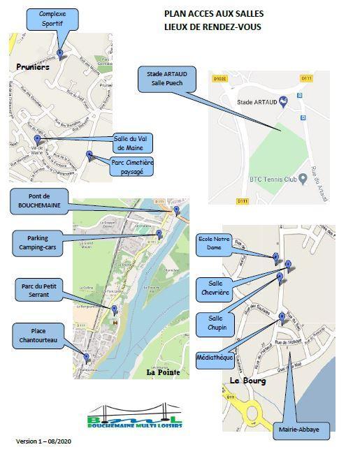 Plan accès aux salles et lieux de RDV